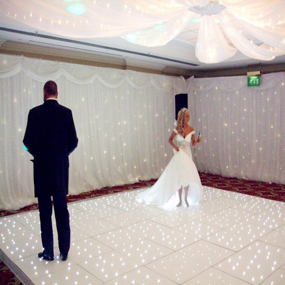 12*12 ft led starlight dancefloors  Wedding White Dance Floor disco dance floors for wedding dj event