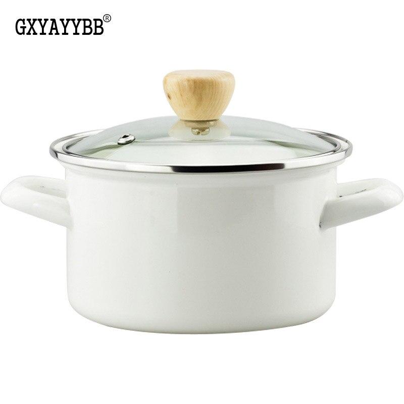 GXYAYYBB pot à soupe en émail japonais 16 cm poêle antiadhésive ustensiles de cuisine antiadhésive poêle à usage général pour cuisinière à gaz et à induction