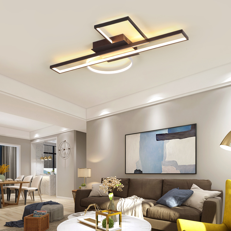 Modern Led Ceiling Lights For Living Room Bedroom Home Square Led Ceiling Lamp lampara techo Fixtures
