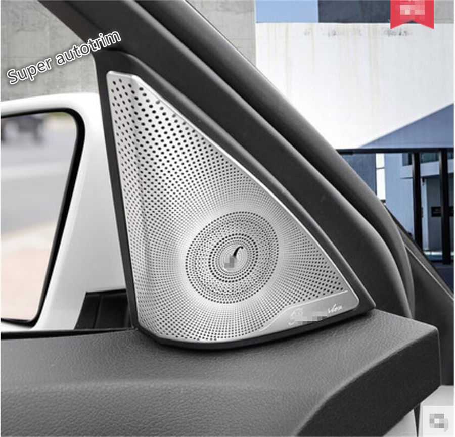 For Mercedes Benz C Class W204 2011 - 2014 More Fashion A Pillar Stereo Speaker Audio Sound Triangle Frame Cover Trim 2 Pcs 1 pcs right side 2048202256 front fog lamp with bulb bumper light for mercedes benz c class w204 2006 2011