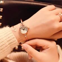 Fashion Bracelet Watch Girls students Simple Compact Rose Gold Retro Women Mini Watches Popular Ins Trending Super Star Clock