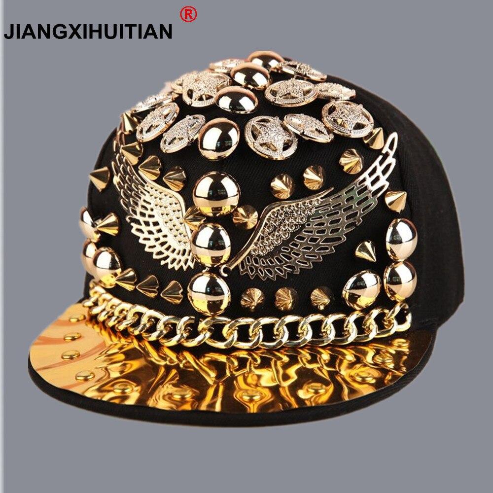 wholesale spiked rivet nail handmade snakeskin leather luxury brand snapback for women men white black novelty baseball cap hats