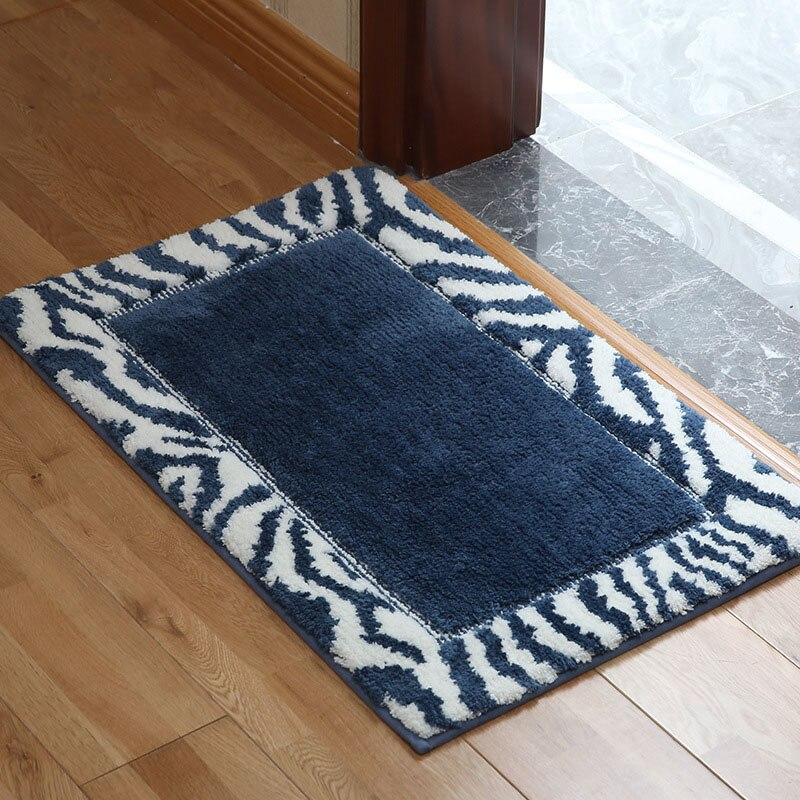 Tapis de sol 50*80 cm anti-dérapant sol cuisine tapis toilette Tapete Absorption d'eau tapis antidérapant porche paillasson