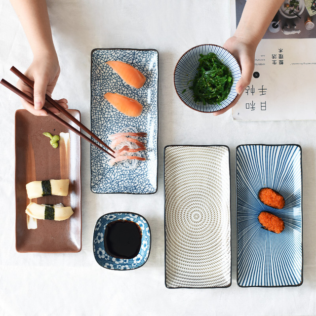 Square Porcelain Dinner Plates Dishes for Restaurant Food Plate Sushi Plate Tray Plate & Square Porcelain Dinner Plates Dishes for Restaurant Food Plate ...