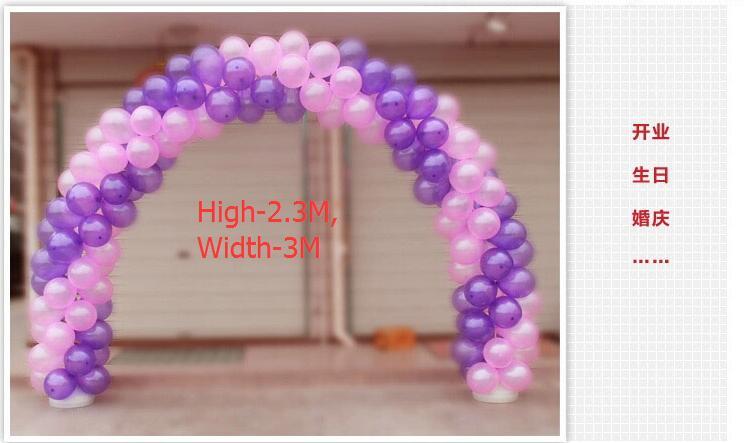 Doprava zdarma, H2.3M, svatební balónová oblouková sada sada přenosný rám balónový stojan základna dekorace (balón + Police + základna + Ouch)