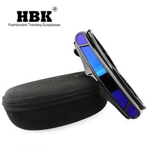 Image 5 - HBK x man laser Cyclops okulary projektant specjalne materiały pamięci spolaryzowane tarcza podróży okulary przeciwsłoneczne UV400 PC K40021