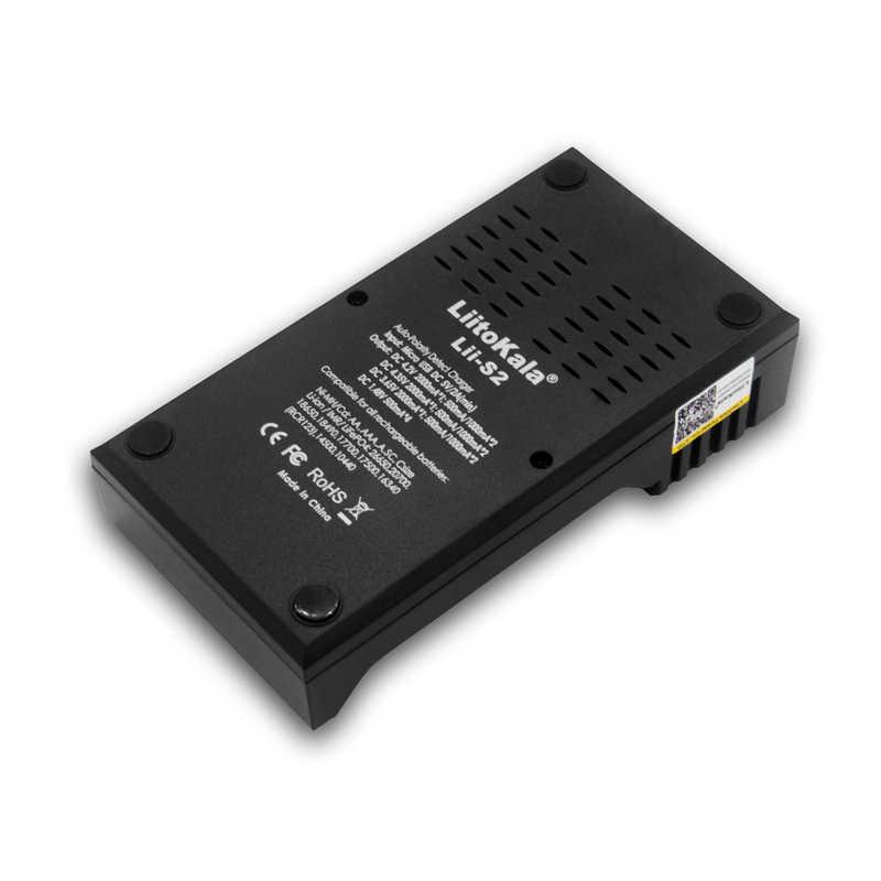 Новый 2018 умное устройство для зарядки никель-металлогидридных аккумуляторов от компании Liitokala: Lii-S2 Батарея Зарядное устройство автоматического обнаружения полярности для 18650 26650 18350 18340 AA AAA литий-ионный никель-металл-гидридных аккумуляторных батарей