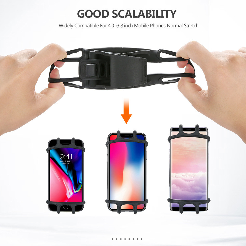 Universal Mobile Cell Phone Holder for iPhone Samsung Made Of Silicon Material 3