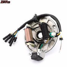 90cc 110cc 125cc PIT DIRT BIKE STATOR PLATE PICKUP MAGNETO COIL ROTOR PITBIKE lifan 150 racing magneto stator rotor kit 150cc motorcycle dirt pit bike pitpro