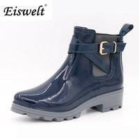 Femmes Bottes de Pluie Pour Les Filles Dames Casual Marche En Plein Air de Chasse Imperméable En Caoutchouc Chaussures Cheville Rainboots # HDS179