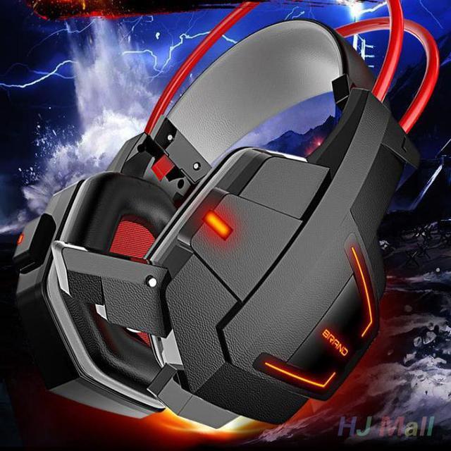 Nova Chegada 3.5mm LED Cabeça MICROFONE Over-Ear Headphone Gaming Fone de Ouvido Fone de Ouvido Para PC Laptop Gamer Gaming Profissional fone de ouvido