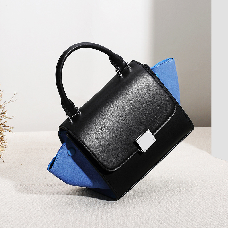 Summer New Handbag Fashion Lady Shoulder Bags Female Genuine Leather Crossbody Bags Women Large Capacity Panelled Design Handbag 2017 new women genuine leather bucket handbag fashion panelled color large capacity female single shoulder bag bbh1346