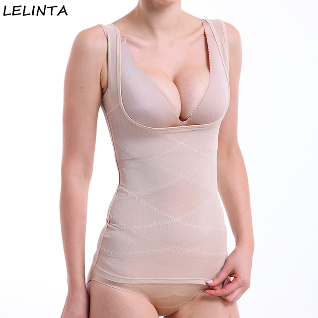 1c3ae8771c55a LELINTA Comfort Shapewear Top Seamless Firm Control for Women Wear Your Own  Bra Shaping Tank Push Up Camisole Body Shaper