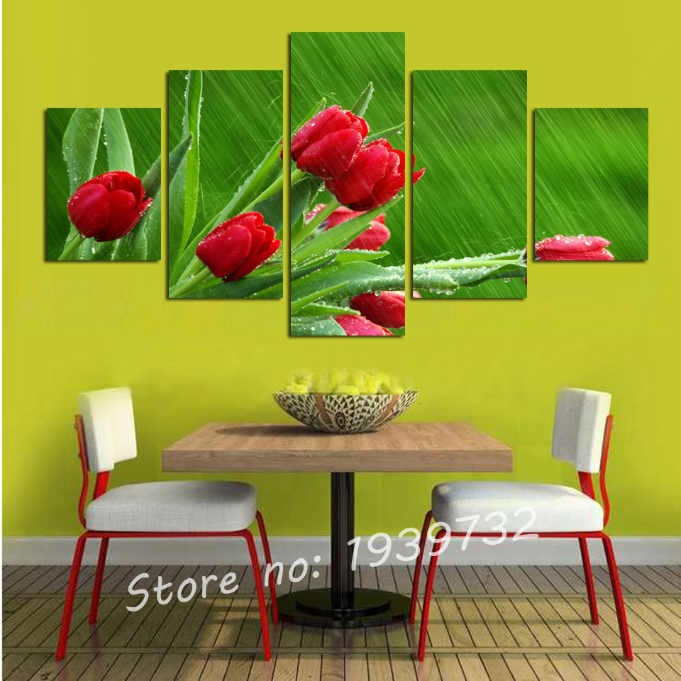 Tulip Flowers Painting home decoration for wedding wall canvas Art ...