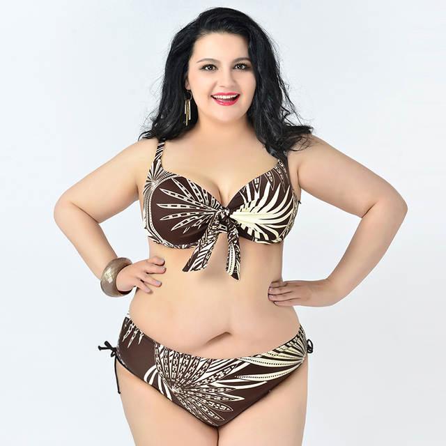13473aedb1f プラスサイズビキニストライプビキニ女性のセクシーな水着ブラジル Biquinis 巨乳女性プッシュアップ