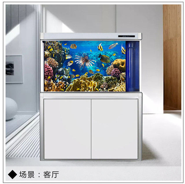 Pvc 3d Effect Aquarium Poster Ocean Natural Landscape Poster Fish Tank Background Aquarium Sticker For Fish Tank Decor Wallpaper Wall Stickers Aliexpress