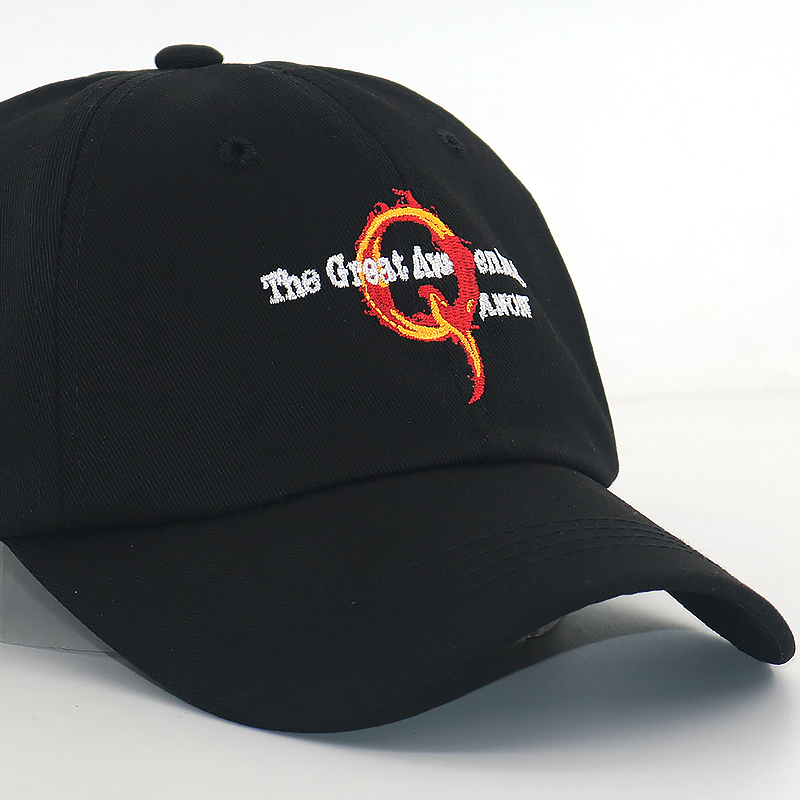 Fashion cap fire Q embroidery baseball caps unisex curved sun hat for travel US the great awaking hats all matched in Men 39 s Baseball Caps from Apparel Accessories