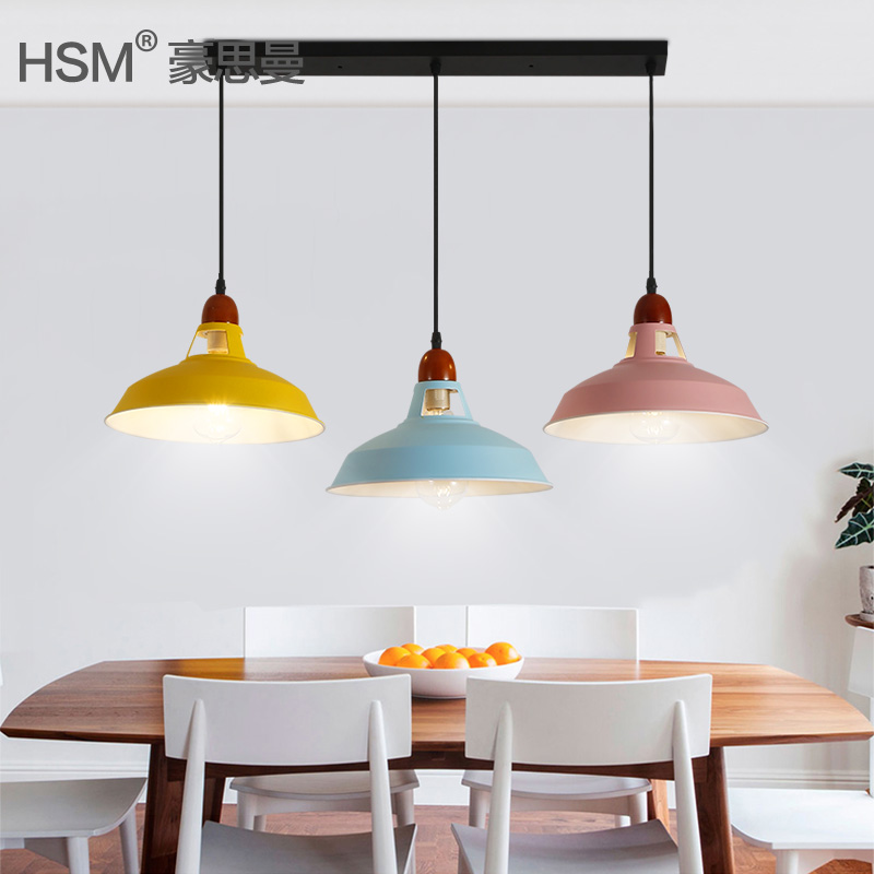 Nordic colorful led Pendant Light Denmark Home foyer Modern Hanging Lamp metal Lampshade Bedroom/Kitchen island pendant LightNordic colorful led Pendant Light Denmark Home foyer Modern Hanging Lamp metal Lampshade Bedroom/Kitchen island pendant Light