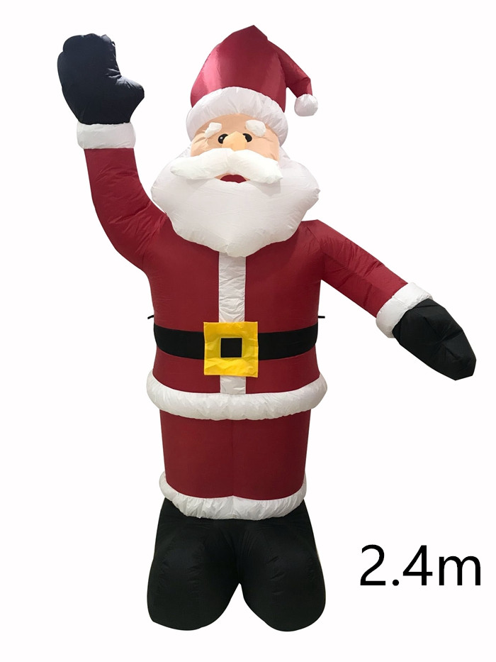 8ft Indoor Outdoor Inflatable Holiday Christmas LED Lighted Santa Claus Yard Decoration