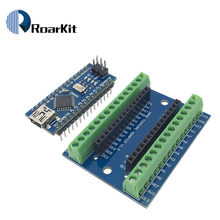 1pcs NANO V3.0 3.0 Controller Terminal Adapter Expansion Board NANO IO Shield Simple Extension Plate For Arduino AVR ATMEGA328P(China)