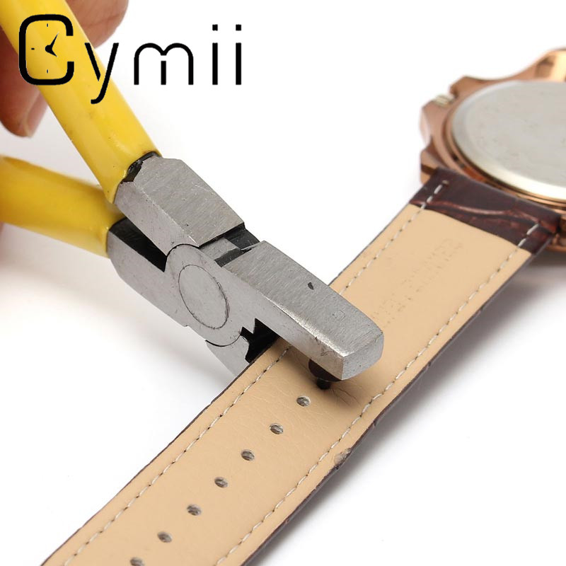 Hot Sale!!! Yellow Watch for Band Strap Link Belt Hole Punch Plier Eyelet Leather Hand Repair Tool Excellent Quality порошки набор магнитных закладок девочковый