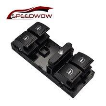 SPEEDWOW Black Electric Power Master Window Switch Button For Jetta MK5 Mk6 Tiguan Passat B6 B7 OEM 1K4959857B VW Golf 5 6
