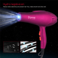 4000W Electric Professional Hair Dryer For Hairdresser Tools Hair Blow Salon Blow Dryer Blue Light Hairdryer Collecting Nozzle