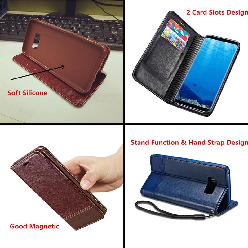 Samsung S6 Case կաշվե մագնիսական մատով խցկող - Բջջային հեռախոսի պարագաներ և պահեստամասեր - Լուսանկար 2