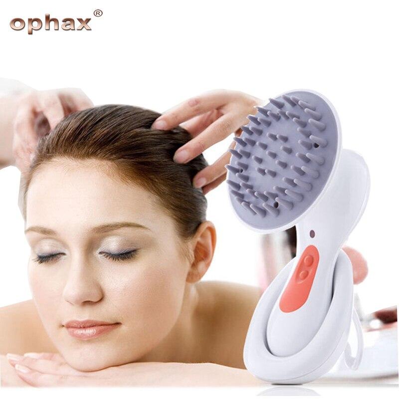 OPHAX Electric Head Massager Scalp Vibration Massage Headache Stress Relieve Prevent Hair Loss Body Massage&Relaxation Device vibrating head massager music electric head and scalp massager brain massage improves sleep body vibration machine massage