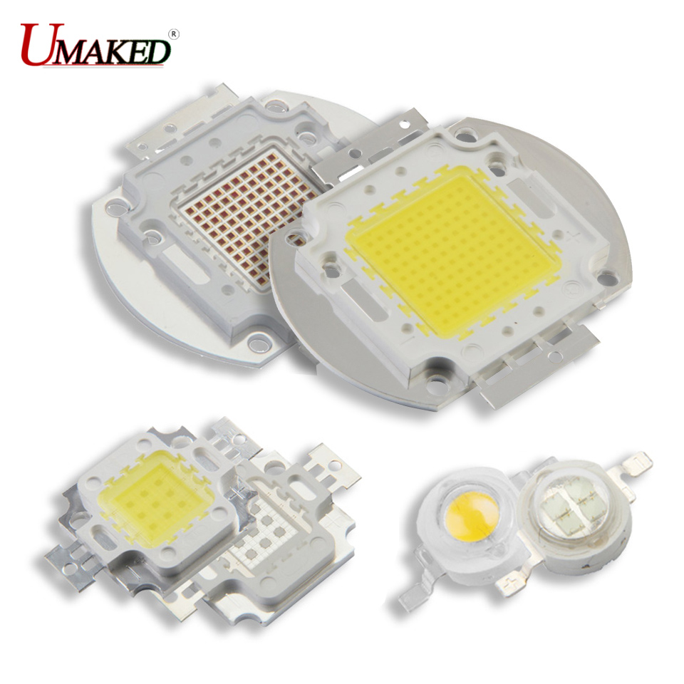 UMAKED High Power LED <font><b>COB</b></font> Light SMD chips Warm Natural White Red Green 1 3 5 <font><b>10</b></font> <font><b>20</b></font> <font><b>30</b></font> <font><b>50</b></font> <font><b>100</b></font> 120 150W Bulb Spotlights <font><b>COB</b></font> Diode image
