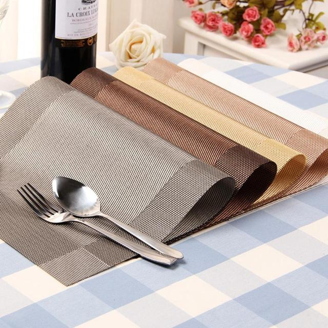 Placemat Fashion Pvc Dining Table Mat Disc Pads Bowl Pad Coasters Waterproof Cloth Slip