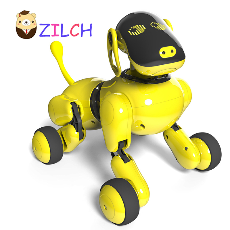 FreeDHL 2018 Puppy Go Dog Mascot Fun APP Control Dance Music Bionic Voice Tactile Interaction Early childhood AI Smart Robot Dog