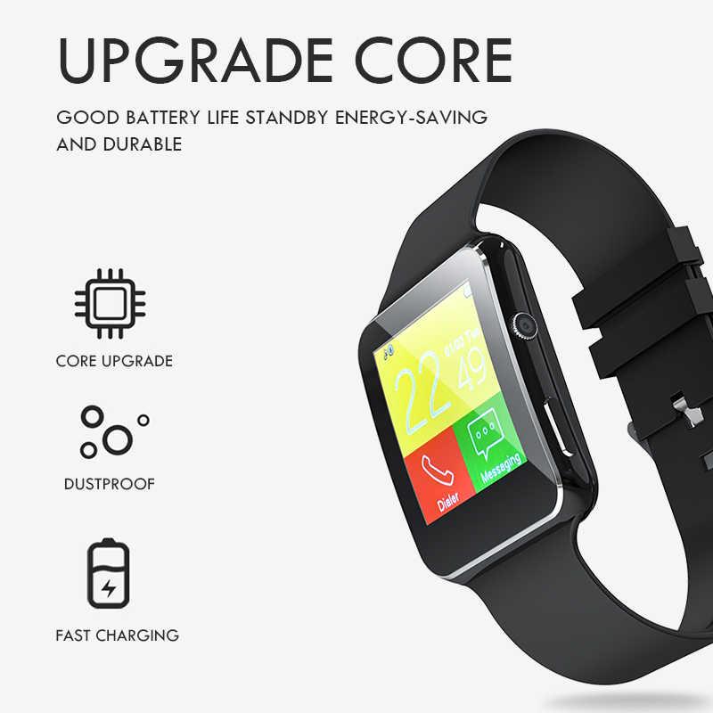 Voulao Новый X6 Смарт-часы с Камера Сенсорный экран Поддержка сим-карты TF карты Bluetooth умные часы для IPhone Xiaomi Android телефон