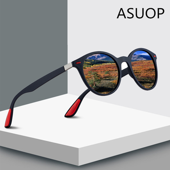 ASUOP 2019 New Fashion Round Polarized Womens Sunglasses Retro Brand Design Mens Glasses Large Frame UV400 Driving