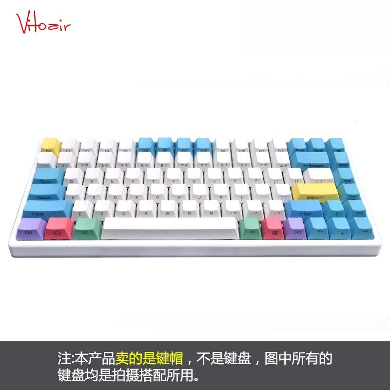 84 keys set PBT Key cap Side Top Printed Customization Mechanical Keyboard keycaps