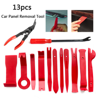 Automobile Removal Radio Door Panel Repair Tool Clip Pry Trim Dash Nail Puller Pliers Kits DIY Plastic 13PCS/Set