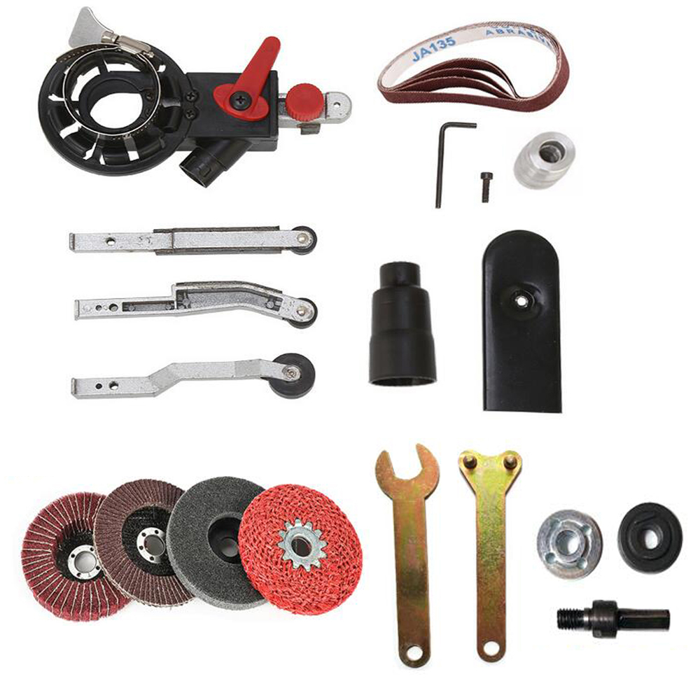 """Woodworking Tools Sander Machine Sanding Belt Adapter Head Convert M10 With Sanding Belts For 4"""" Electric Angle Grinder Mayitr"""