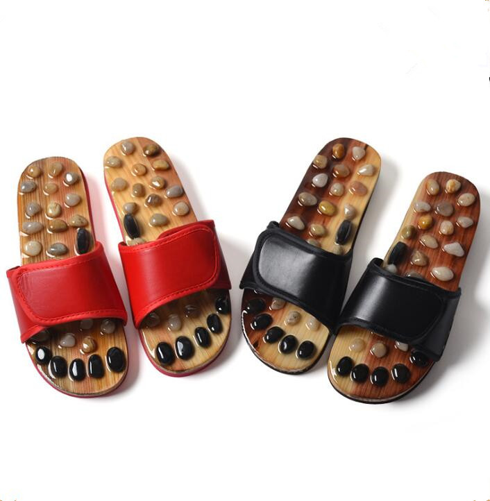 Household Slippers Massage-Shoes Factory-Direct Health Summer Natural Cobblestone-Foot-Soles