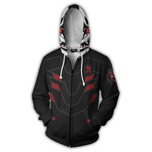 Image 2 - 게임 Overwatch 겐지 지퍼 까마귀 남자와 여자 코스프레 스웨터 애니메이션 의상 3D 인쇄 새로운