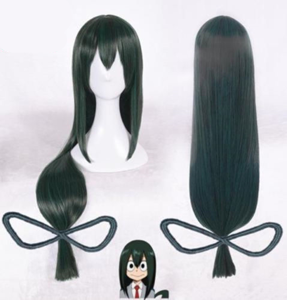 Home Initiative My Hero Academia Boku No Hero Academia Asui Tsuyu Dark Green Long Straight Cosplay Wig Props Gift Be Shrewd In Money Matters