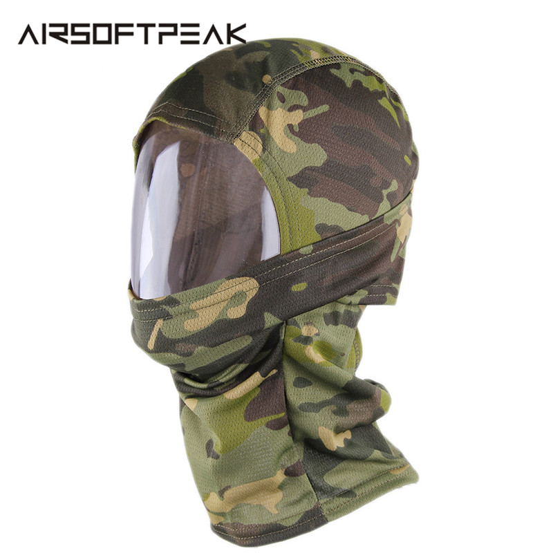 Tactical Military Quick-dry Hood Cool Headband Balaclavas Full Face Mask Camouflage Hunting Mask Accessory For Sun Protection~