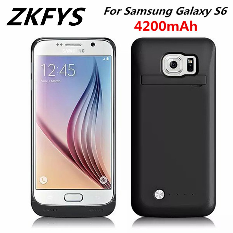 For Samsung Galaxy S6 Edge Power Charging Case 4200mAh  Ultra Thin Fast Charger Battery Cover For Samsung S6 Backup Charger Case