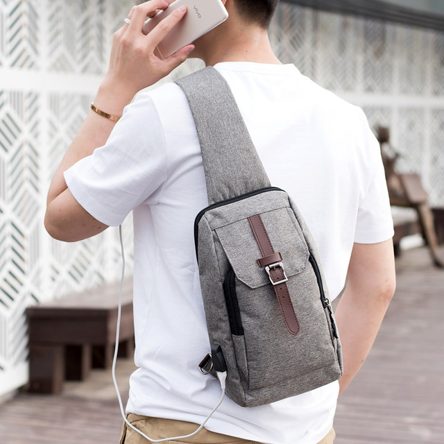Men's chest bales Oxford male edition of men's and women's breast aslant bag leisure shoulder bag