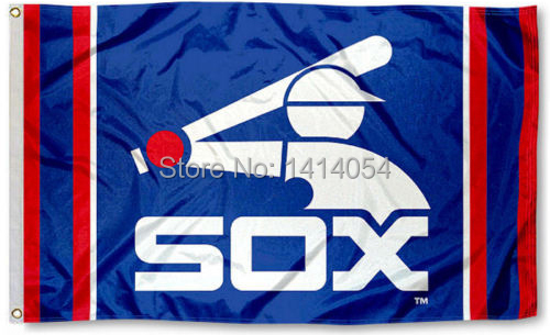 Chicago White Sox Vintage Throwback Flag 150X90CM NCAA 3X5FT Banner 100D Polyester grommets custom009,