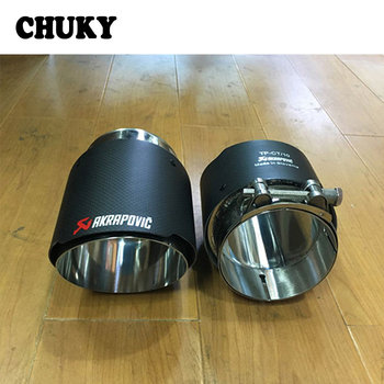 CHUKY For BMW X5 E53 E70 X6 E71 X1 F48 M performance Accessories 15 2016 2017 Rear Tail Carbon Akrapovic Tips Car Exhaust Pipes exhaust tips on jaguar xe