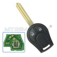 цена на Remote key fob 2 button for 2008-2013 Nissan Cube Rogue 433mhz with ID46 chip