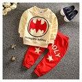 Детская одежда 2016 весной и осенью дети/две части/наборы 0-3 лет мальчик мода мультфильм bat дизайн моды новый
