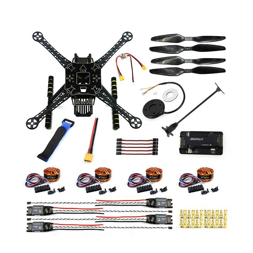DIY FPV ड्रोन किट S600 4 एक्सल एरियल क्वाडकॉप्टर APM 2.8 फ्लाइट कंट्रोल GPS 7M 40A ESC 700kv मोटर सोल्डर असंबद्ध