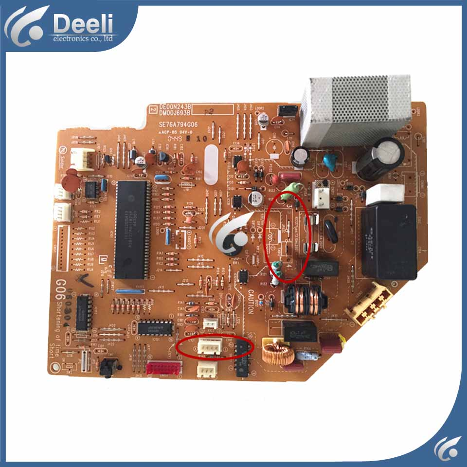 95% new for air conditioning computer board DM76Y606G01 DE00N243B DM00J693B SE76A794G06 PC control board wire universal board computer board six lines 0040400256 0040400257 used disassemble