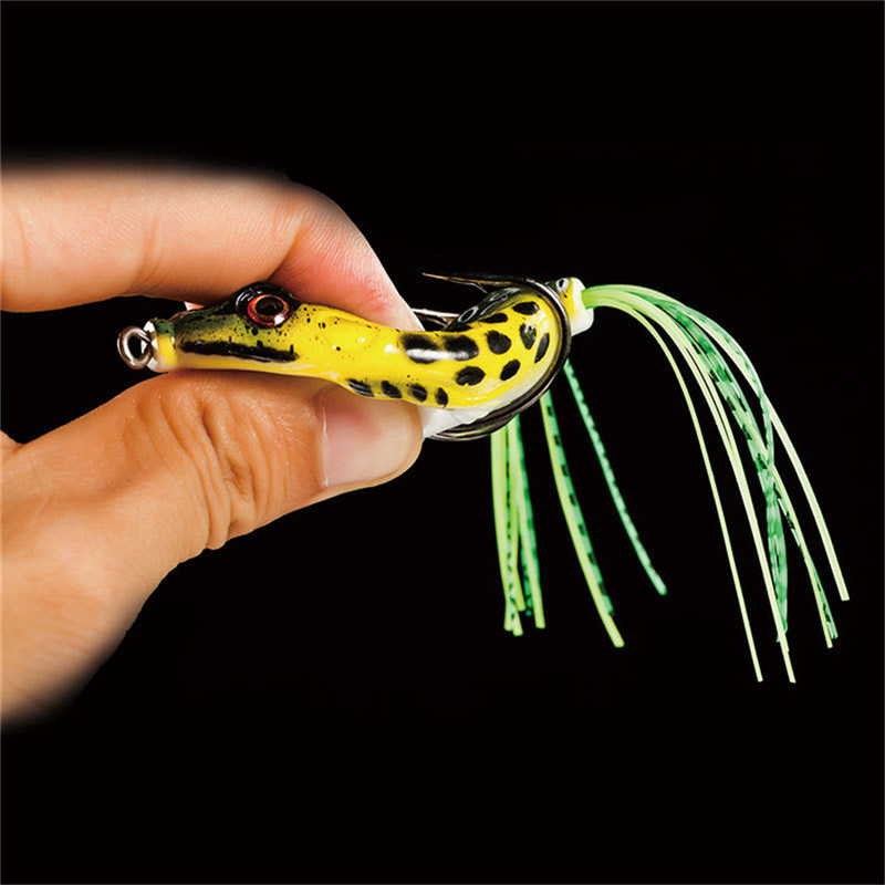 6pcs Soft Tube Bait Plastic Fishing Lures Frog Lure Hooks Frog Artificial Bait pesca Fishing Accessories